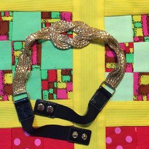 Gold and black belt